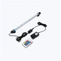 Akvarie armatur RGB 92cm - 9W LED, med sugekoppper, IP68
