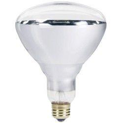 Klar E27 250W infrarød glødetrådpære - Varmepære , R125