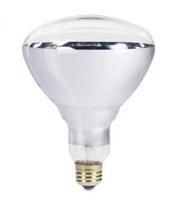 Klar E27 150W infrarød glødetrådpære - Varmepære , R125