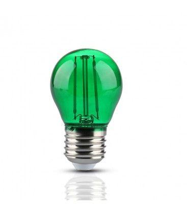 V-Tac 2W Farget LED kronepære - Grønn, Karbon filamenter, E27