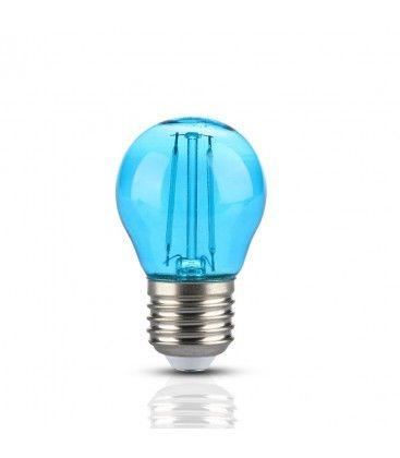 V-Tac 2W Farget LED kronepære - Blå, Karbon filamenter, E27