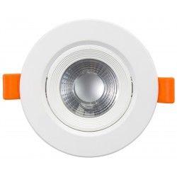 7W LED downlight - Hull: Ø7,5 cm, Mål: Ø9 cm, innebygd driver, 230V