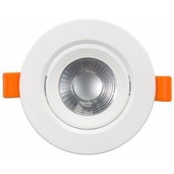 LED downlights 7W LED downlight - Hull: Ø7,5 cm, Mål: Ø9 cm, innebygd driver, 230V
