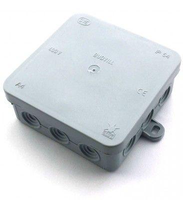 Koblingsboks - 10 x 10 x 3,7 cm, IP54 sprutsikker