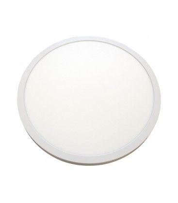 40W LED rundt panel - Ø60, Høyde: 4cm, hvit kant, inkl. lyskilde