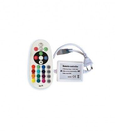 8x16 RGB controller til Neon Flex LED - Inkl. endeplugg, radiostyrt, IP67, 230V