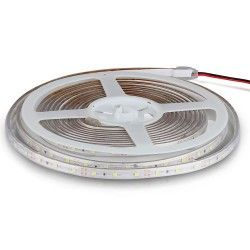 12V V-Tac 3,6W/m LED stripe - 5m, 8mm bred, 60 LED per meter, Farget lys
