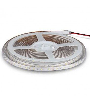 V-Tac 3,6W/m LED stripe - 5m, 8mm bred, 60 LED per meter, Farget lys
