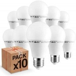 E27 LED 10 stk V-Tac 9W LED pære - E27, 200 grader
