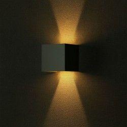 Vegglamper V-Tac 12W LED grå vegglamper - Firkantet, justerbar spredning, IP65 utendørs, 230V, inkl. lyskilde