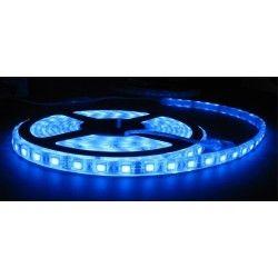 Blå sprutsikker LED strip - 5m, 30 LED per meter