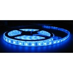 12V Blå sprutsikker LED strip - 5m, 30 LED per meter