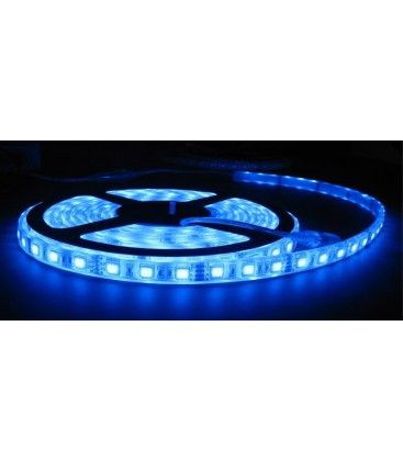 Blå sprutsikker LED strip - 5m, 30 LED per meter