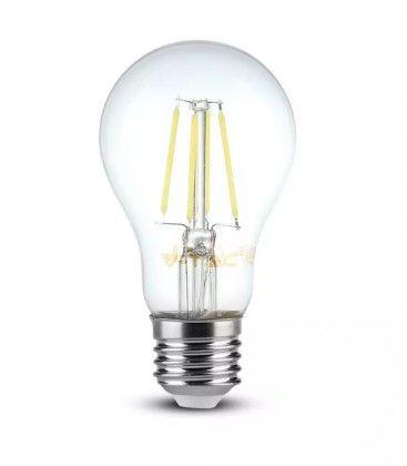 V-Tac 8W LED pære - Karbon filamenter, varm hvit, E27