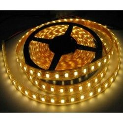 12V IP68 14W vanntett LED strip - 5m, IP68, 60 LED, 14W per meter