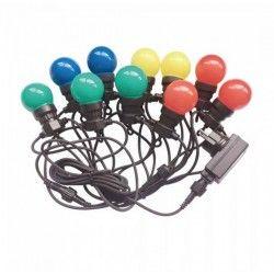 Lysslynger V-Tac LED lyskæde med 10 stk. 0,5W RGB pærer - 5 meter, 230V, inkl. lyskilde