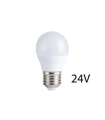 4W LED pære - G45, E27, 24V