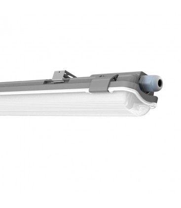 V-Tac 60 cm vanntett armatur med rør - Inkl. 1 stk. 10W LED rør, IP65, 230V