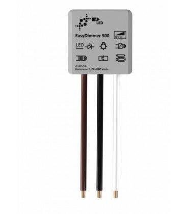 EasyDimmer500 - 250W LED dimmer, kip-tryk/push dim, korrespondanse