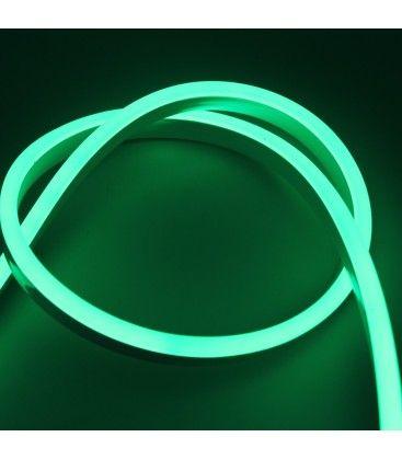 8x16 Neon Flex LED - 8W per meter, grønn, IP67, 230V