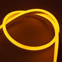 8x16 Neon Flex LED - 8W per meter, gul, IP67, 230V
