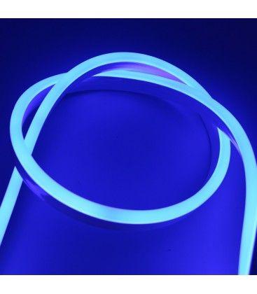 8x16 Neon Flex LED - 8W per meter, blå, IP67, 230V