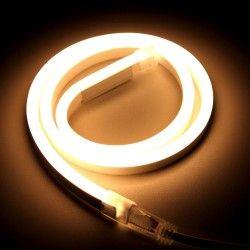 230V Neon Flex Varm hvit 8x16 Neon Flex LED - 8W per meter, IP67, 230V