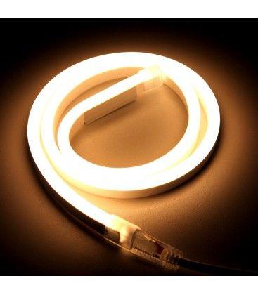 Varm hvit 8x16 Neon Flex LED - 8W per meter, IP67, 230V