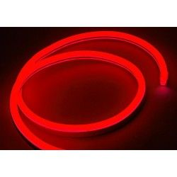 230V Neon Flex Rød 8x16 Neon Flex LED - 8W per meter, IP67, 230V