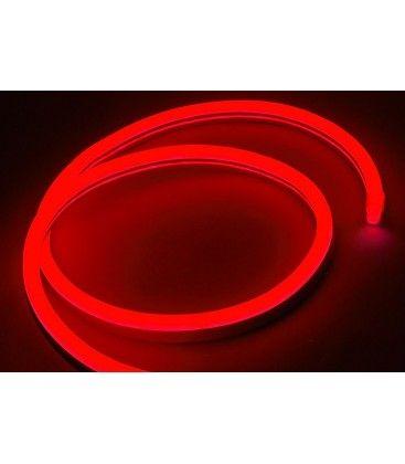 Rød 8x16 Neon Flex LED - 8W per meter, IP67, 230V