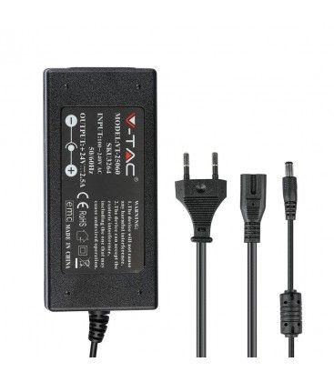 V-Tac 60W strømforsyning til LED strips - 24V DC, 2,5A, IP44 baderom