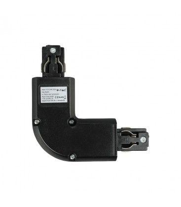 V-Tac L-skjøt for skinner - svart