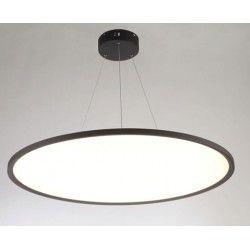 Taklamper LEDlife 40W LED rundt panel - 100 lm/W, Ø60, svart, inkl. wireoppheng