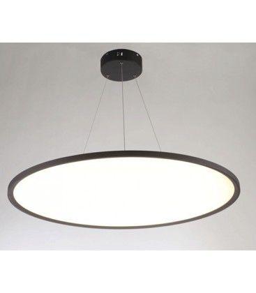 LEDlife 40W LED rundt panel - 100 lm/W, Ø60, svart, inkl. wireoppheng