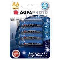 Batterier 4 stk AgfaPhoto Alkalina batteri - AA, 1,5V