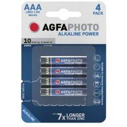 Batterier AAA 4-pak AgfaPhoto batteri - Alkaline, 1,5V