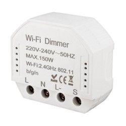 230V LED dimmere WifiDimmer150 - 150W LED dimmer, kip-tryk/push dim, korrespondanse, til innbygging