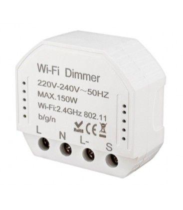 WifiDimmer150 - 150W LED dimmer, kip-tryk/push dim, korrespondanse, til innbygging