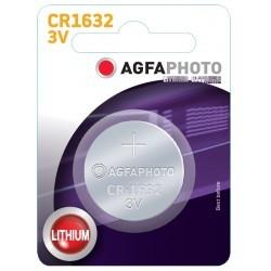 Batterier 1 stk AgfaPhoto Lithium knappebatteri - CR1632, 3V