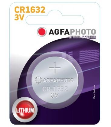 1 stk AgfaPhoto Lithium knappebatteri - CR1632, 3V