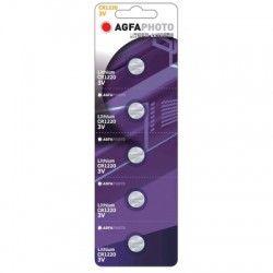 Batterier 5 stk AgfaPhoto Lithium knappebatteri - CR1220, 3V