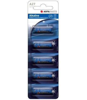LR27A/A27 5-pak AgfaPhoto batteri - Alkaline, 12V