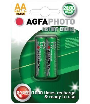 2 stk AgfaPhoto oppladbart batteri - AA, 1,5V
