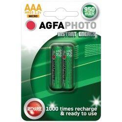 Batterier 2 stk AgfaPhoto oppladbart batteri - AAA, 1,5V