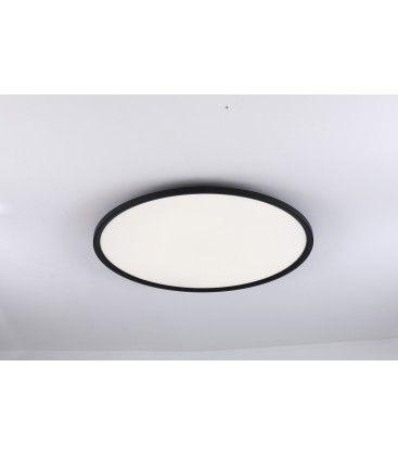 LEDlife 40W LED rundt panel - 100 lm/W, Ø60, svart, inkl. monteringsbrakett