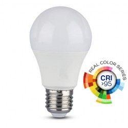 V-Tac 10W LED pære - A60, E27, RA 95