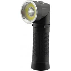LED lommelykter LED lommelykte 90° roterbar - 5W, magnet i bunden, 3xAAA, svart