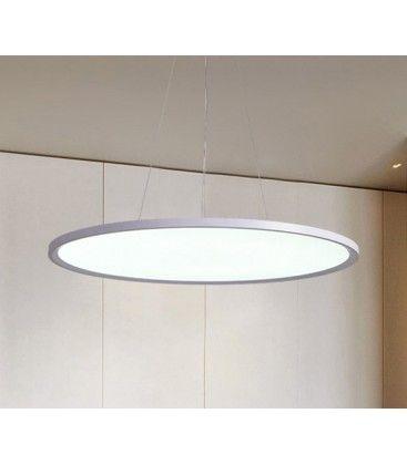 LEDlife 40W LED rundt panel - 100 lm/W, Ø60, hvit, inkl. wireoppheng