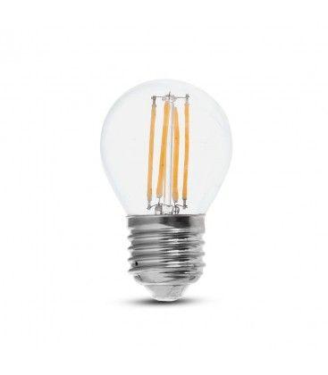 V-Tac 6W LED kronepære - G45, Karbon filamenter, E27