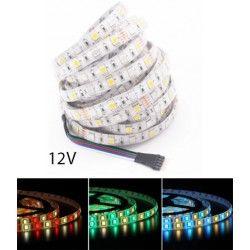 12V RGB+WW 12W/m RGB+WW LED strip - 5m, IP65, 60 LED per meter, 12V